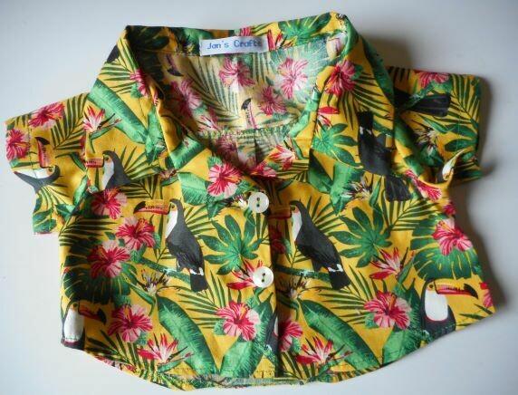 Shirt for bears - toucan or parrot print