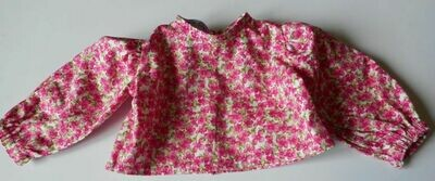 Top for dolls - pink floral