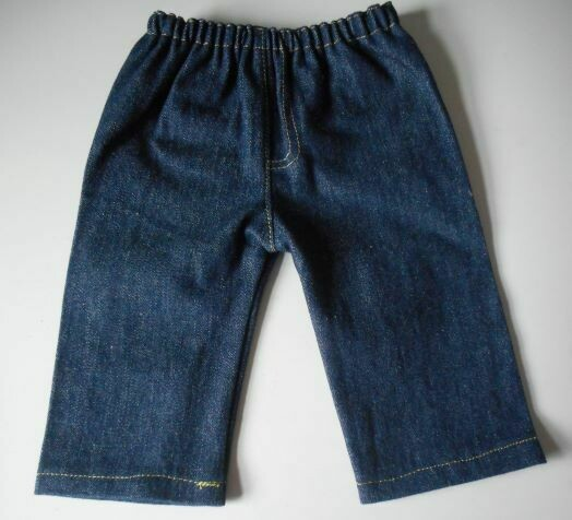 Jeans for dolls - dark blue denim
