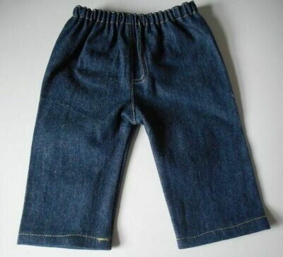 Jeans for dolls - dark blue denim