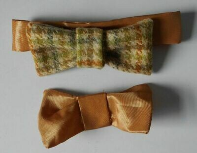 Bow tie set for bears - tweed