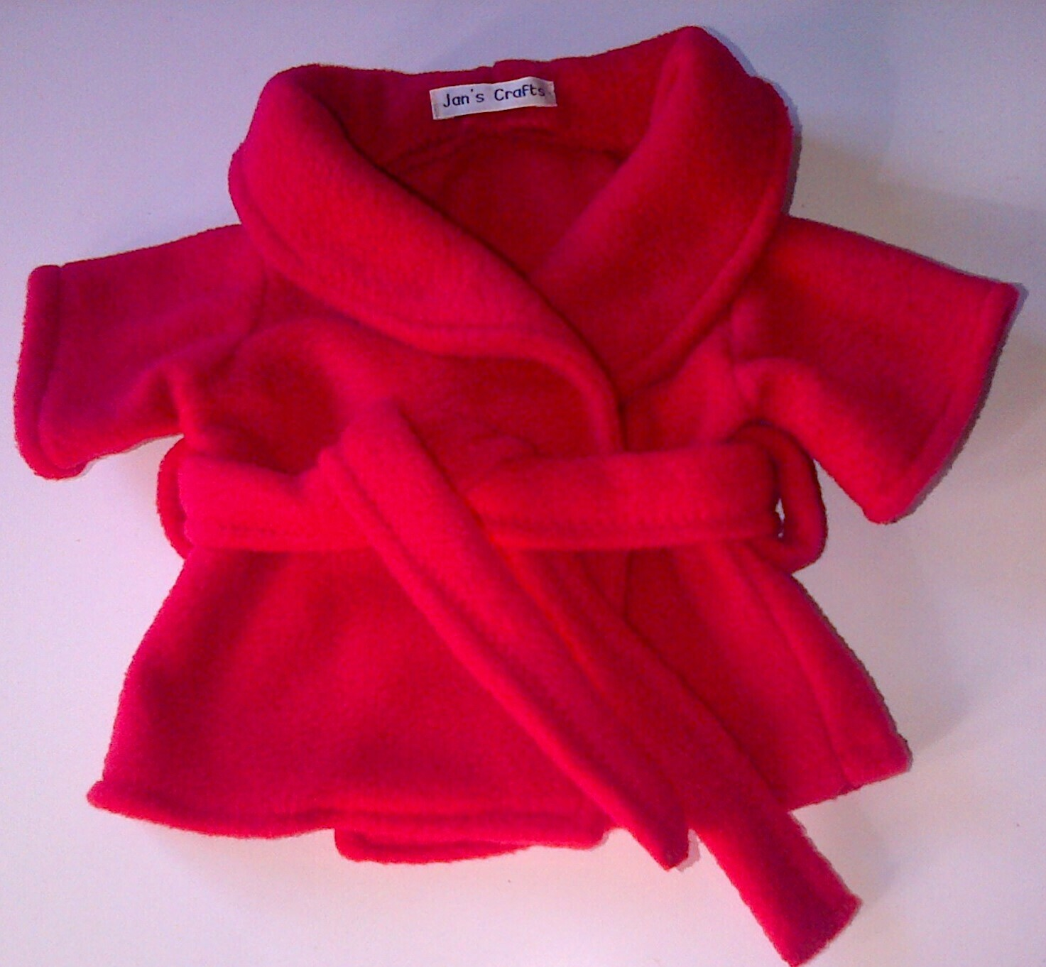Dressing gown for bears in 3 colours of fleece