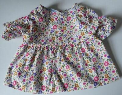 Dress with short sleeves in floral print-bear