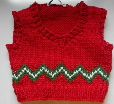 Tank top for bear - red, green and white