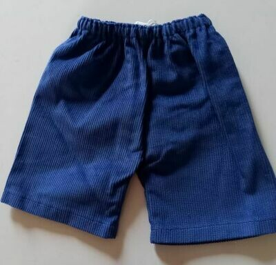 Trousers with back pockets - Blue corduroy