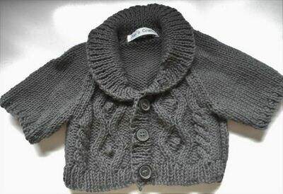 Cardigan with shawl collar - grey