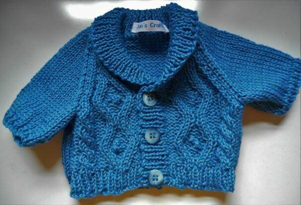 Cardigan with shawl collar - blue
