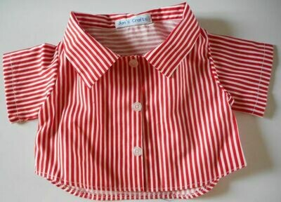 Shirt - red and white stripes