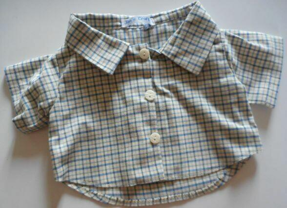 Shirt - blue and cream check