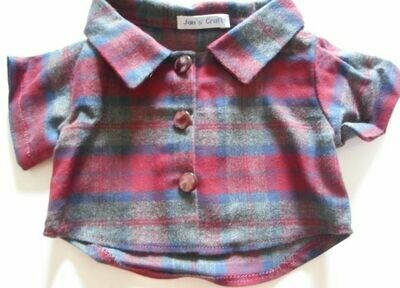 Shirt - maroon and grey check