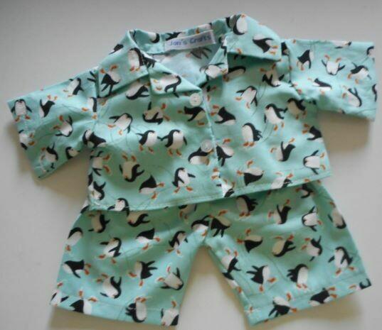 NEW penguin print pyjamas for 21 to 25cm bear