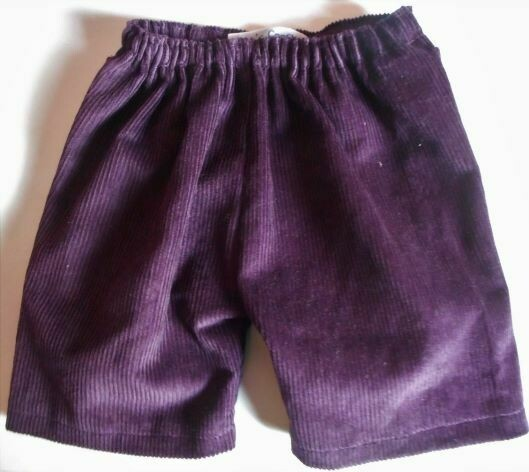 Trousers with back pockets - aubergine corduroy