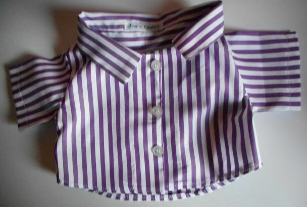 Shirt for bears - purple and white cotton.