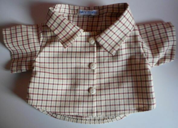 Shirt - red, brown and cream check. NEW