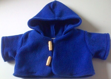 Coat with hood for bears in 3 colour options