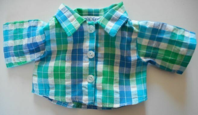 NEW check shirt for 21 to 25cm bear