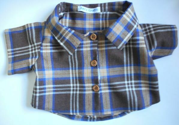Shirt - brown, cream and blue check . NEW!