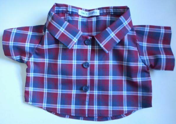 Shirt - maroon and navy check . NEW!