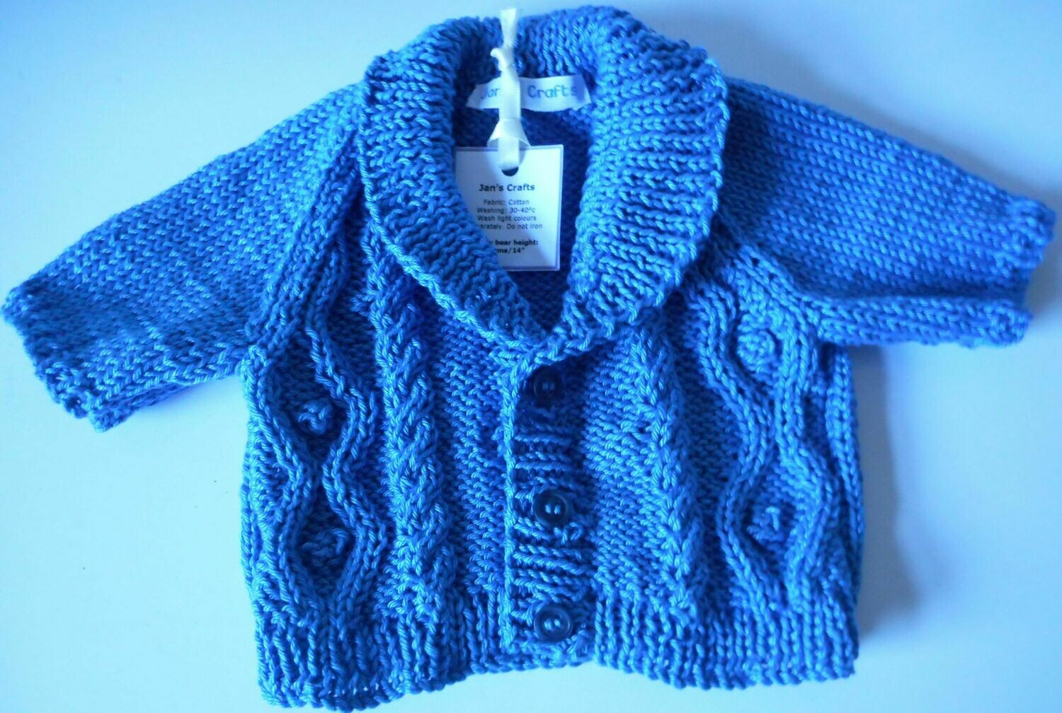 Cardigan with shawl collar - Airforce blue