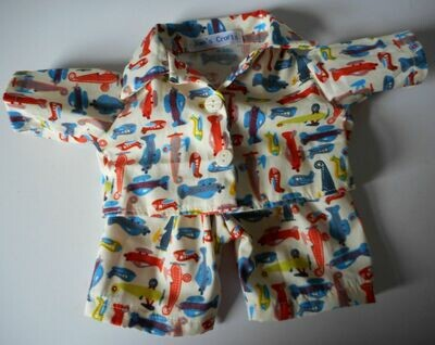 NEW aeroplane print pyjamas for 21 to 25cm bear