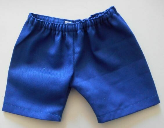 NEW: Blue cotton drill trousers for 21-25cms bear
