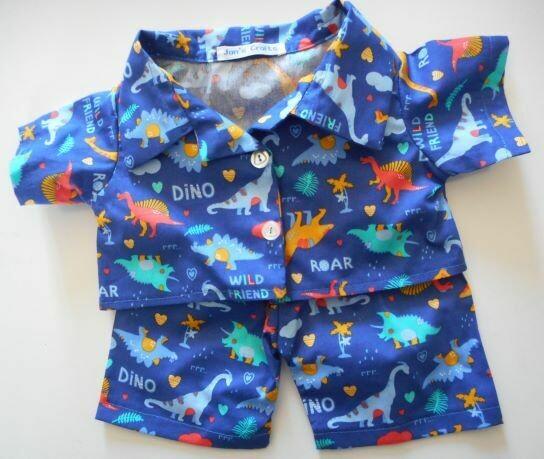 Pyjamas with collar - dinosaur print.