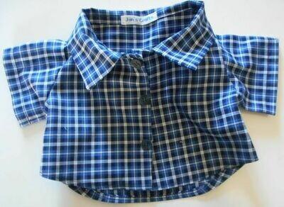 Shirt - blue check.