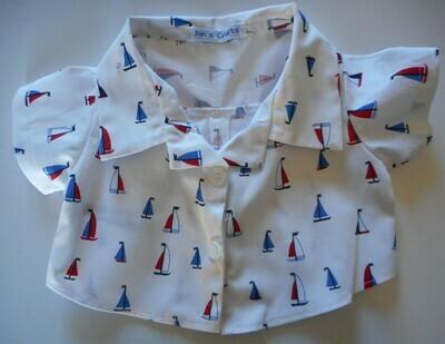Shirt - yacht print on white background