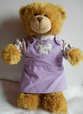 Outfit for bears: Lilac pinafore with top