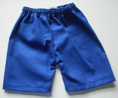 Trousers with back pockets - Blue cotton drill