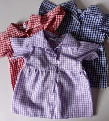 Dress with short sleeves for school