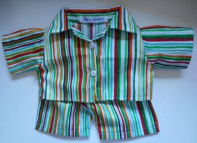 NEW stripe print pyjamas for 21 to 25cm bear