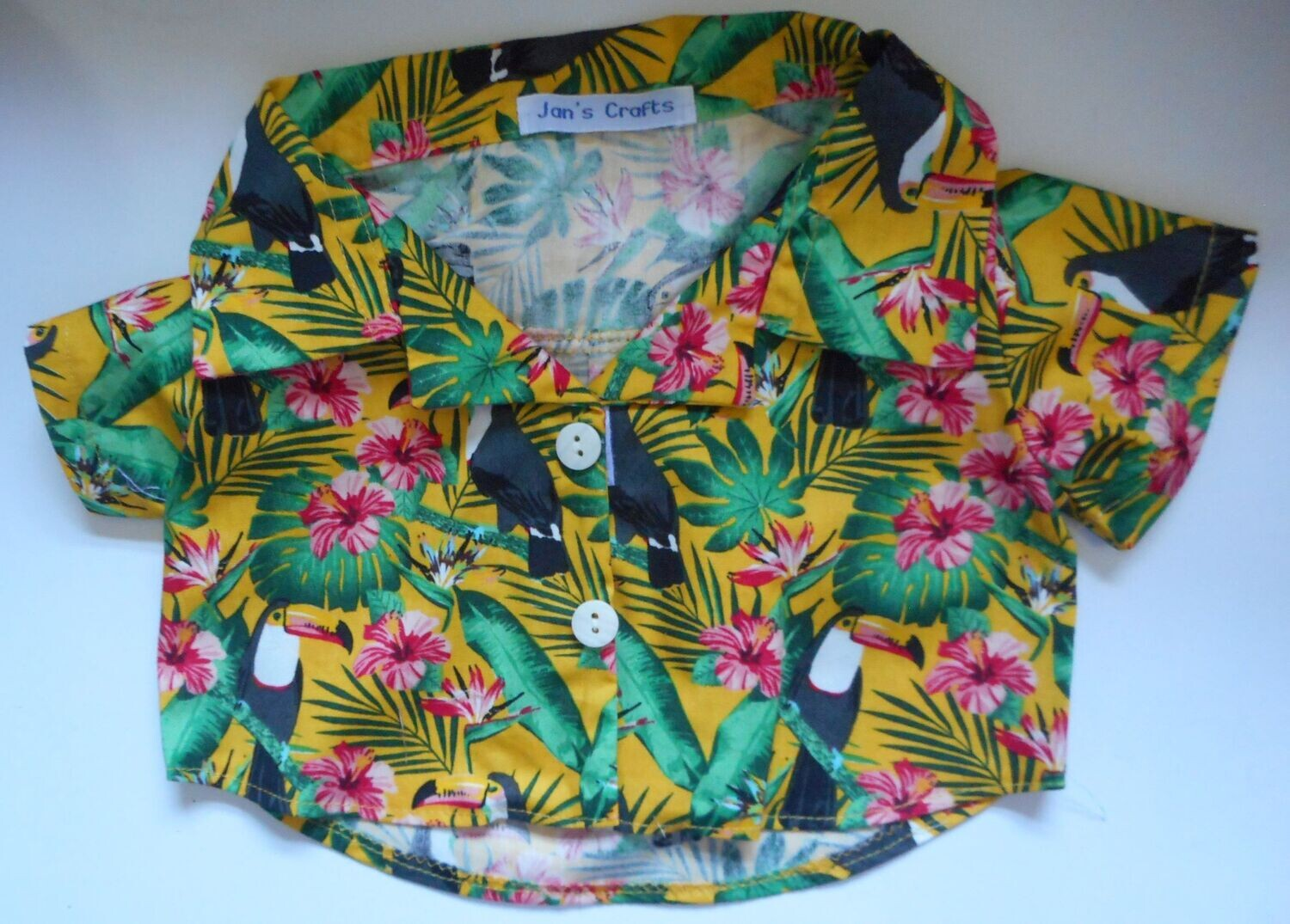 Shirt - toucans on yellow background