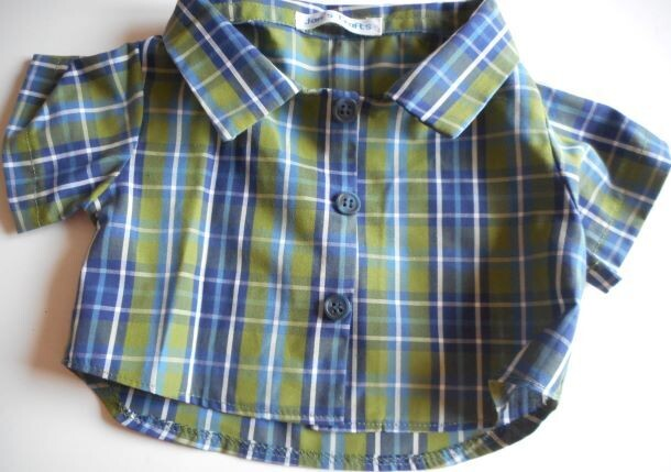 Shirt - blue and green check. NEW!