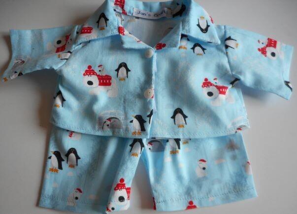 NEW x-mas print pyjamas for 21 to 25cm bear