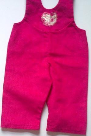 Dungarees - cerise pink