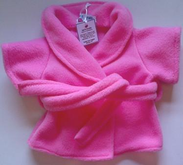 Dressing gown for bears in 4 colours of fleece