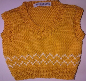 Tank top for bear - gold and cream