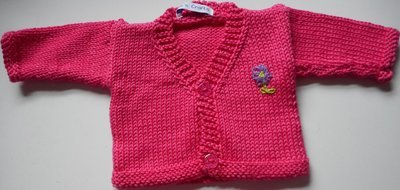 Cardigan - cerise pink, in 3 sizes
