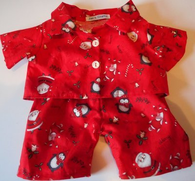 Pyjamas with collar - Christmas print, cotton.