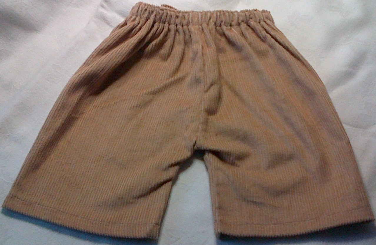 Trousers with back pockets - fawn corduroy