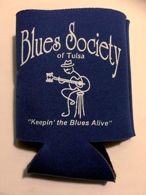 Blues Society Koozie - ROYAL BLUE