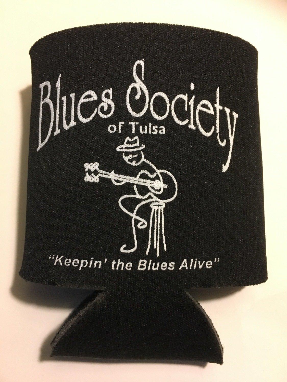 Blues Society Koozie - BLACK