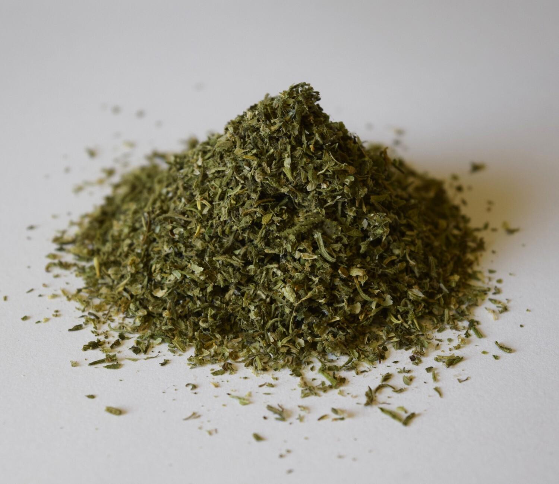 Seedless Hemp flower material 6 % CBD level - la canapa fuma