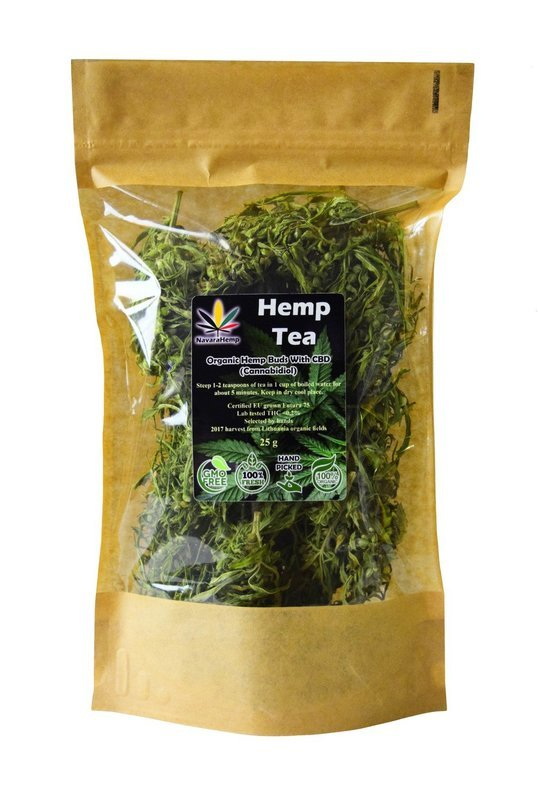 Organic Han Picked Hemp Tea Buds 25g