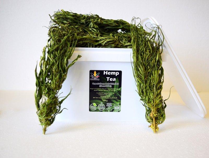 Hemp Flowers 20 cm long 150g - Hanftee ganze Hanfblüten - EU certified Futura 75