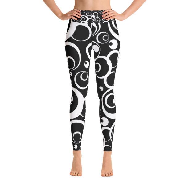 Yoga Leggings B/W Circles