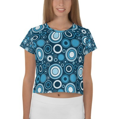 Crop Top Blue Circles