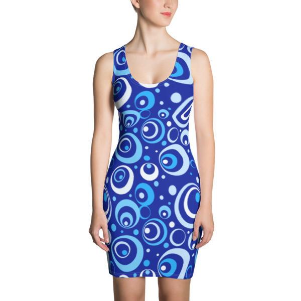 Women's Dress Blue Circles
