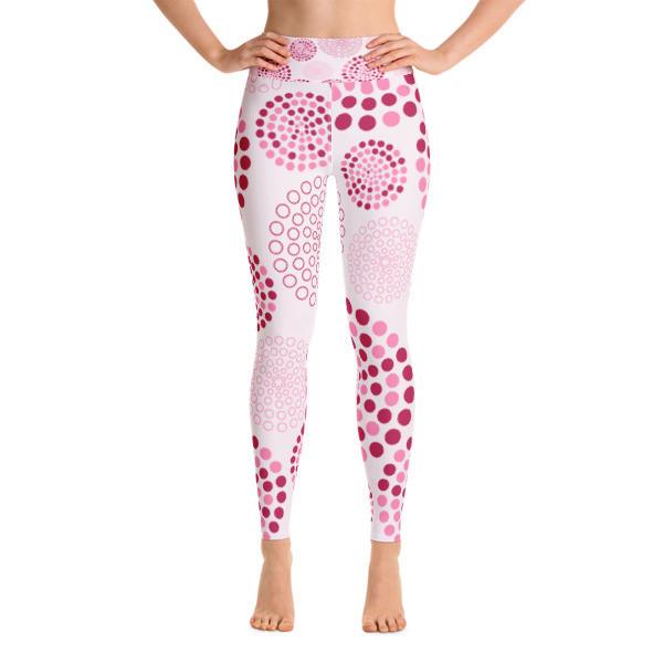 Yoga Leggings Pink Circles